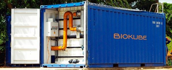 BioContainer - transportable sewage treatment systems in standard shipping Containers for mines and oil camps