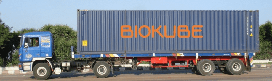 Biokube on a truck 2