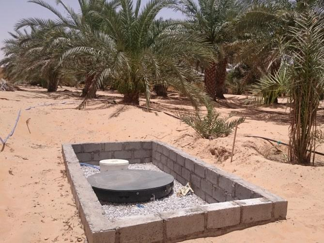 BioKube Venus system installed in Saudi Arabia where the temperature are over 40 degrees. This is no problem for the BioKube. The water is reused for irrigation.