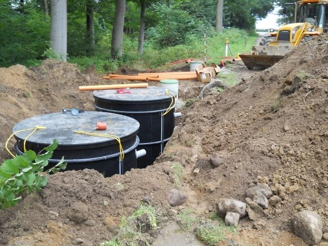 Two Mars 3000 BioKube wastewater systems at boarding school in Denmark. Installed in parallel the systems treat wastewater for 80 PE