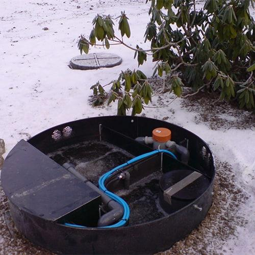 BioKube Venus system installed in Northern Sweden where the temperature for long periods are below freezing. This is no problem for the BioKube.