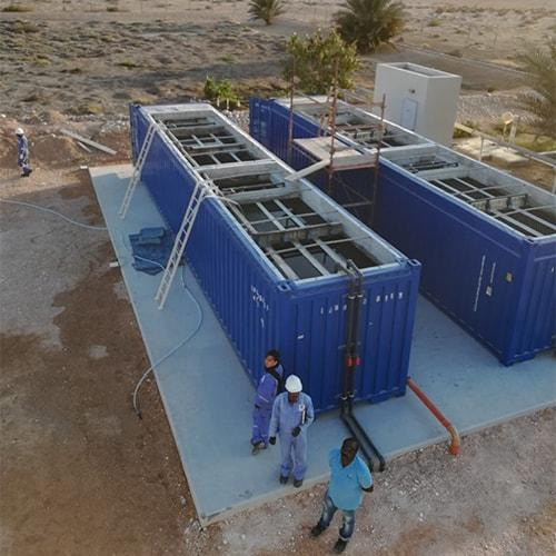 As the BioReactor containerized wastewater treatment plant is located inside a standard shipping container, it can be relocated and installed with ease at other locations.