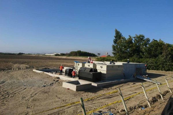 BioKube wastewater system at asparagus factory in Peru