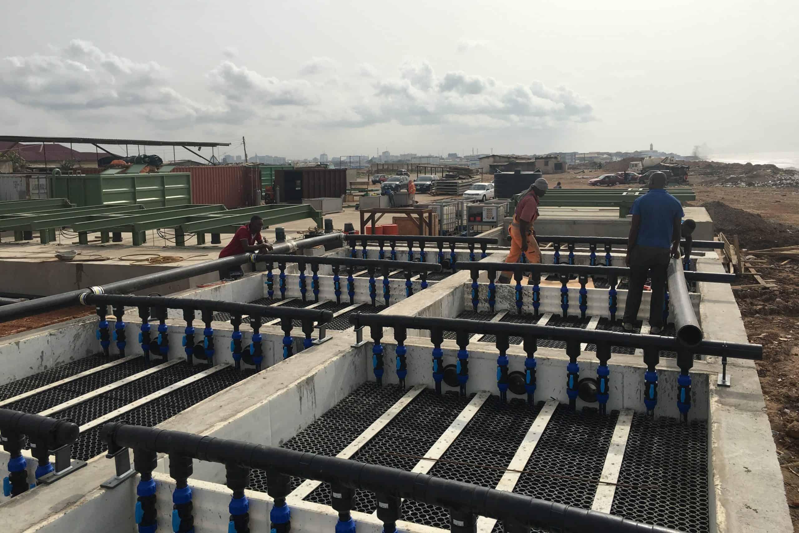 BioKube wastewater system Lavender Hill Ghana - 5