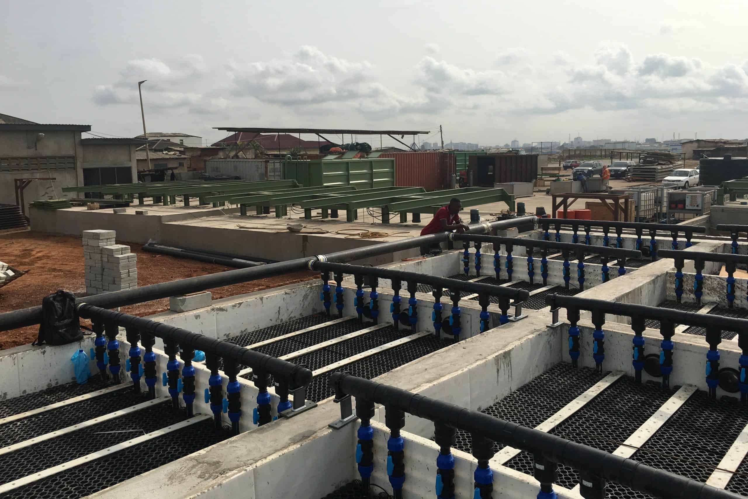 BioKube wastewater system Lavender Hill Ghana - 6