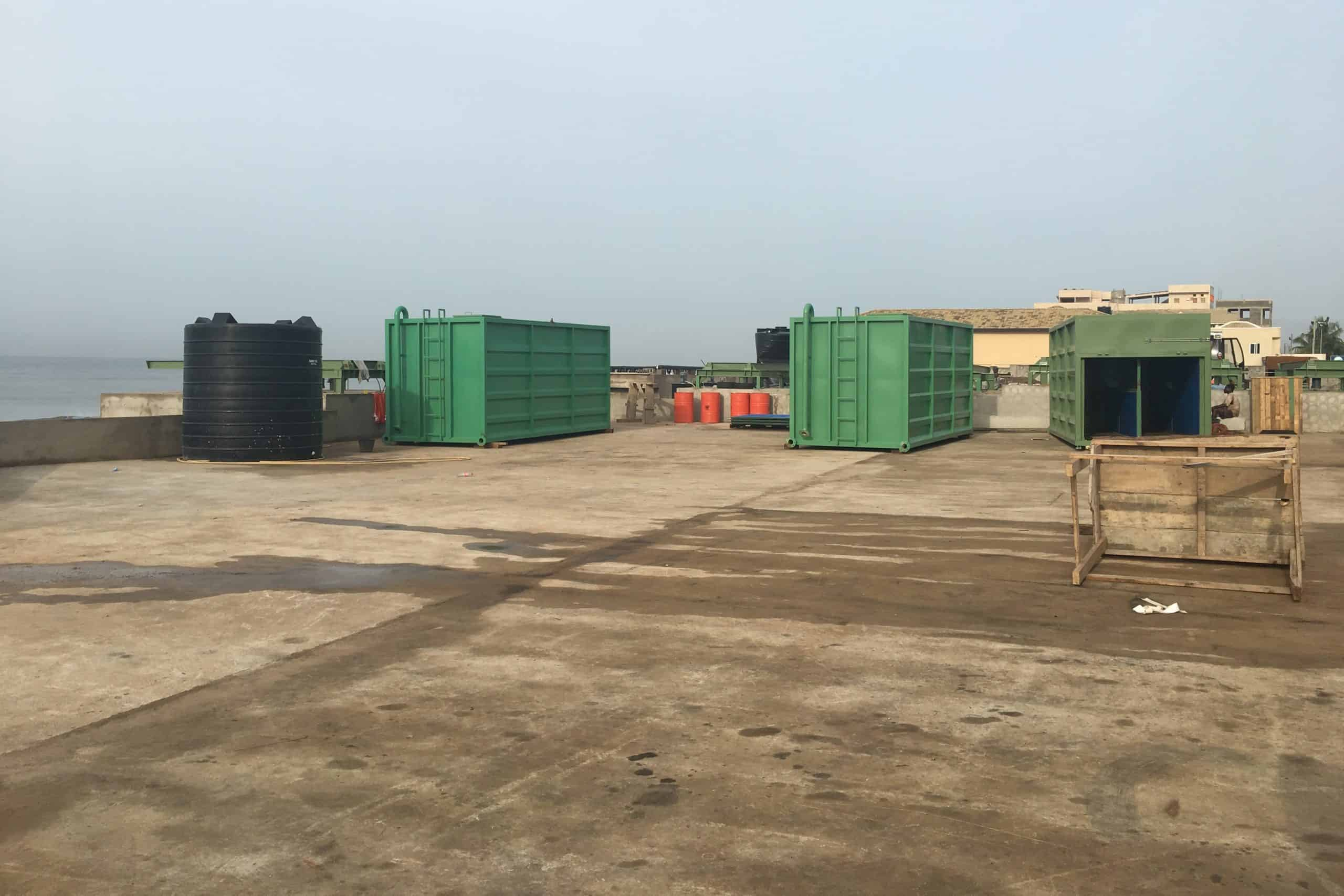 Dewatering containers Lavender Hill Ghana