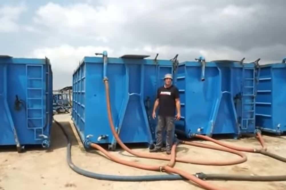 Sludge dewatering containers BioKube system Ghana