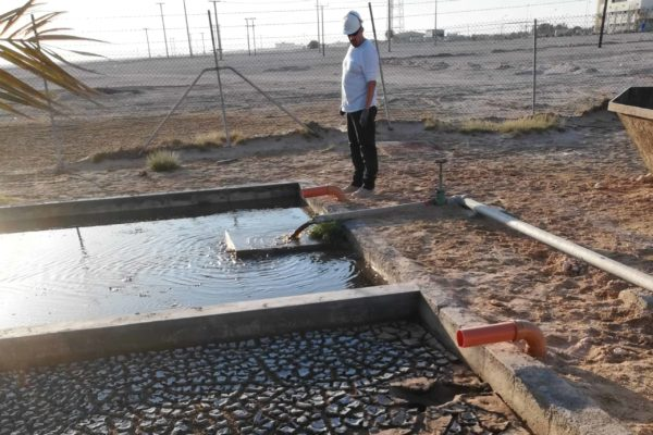 Sludge drying bed by 40 foot BioContainer in Oman - 4