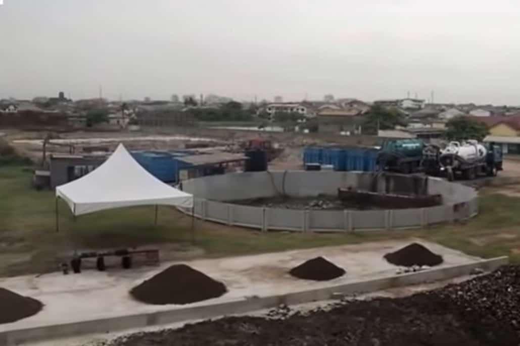 Sludge processing plant from BioKube system - Ghana