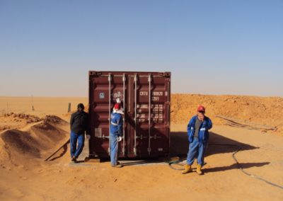 BioContainer oil exsploration in desert i south Libya