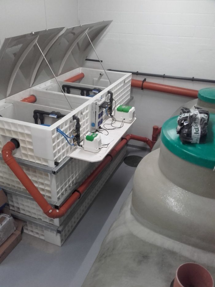 BioKube wastewater system at car rust protection facility Denmark -1
