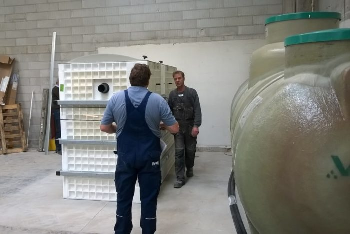 BioKube wastewater system at car rust protection facility Denmark -5