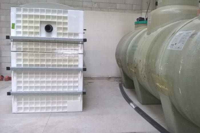 BioKube wastewater system at car rust protection facility Denmark -7
