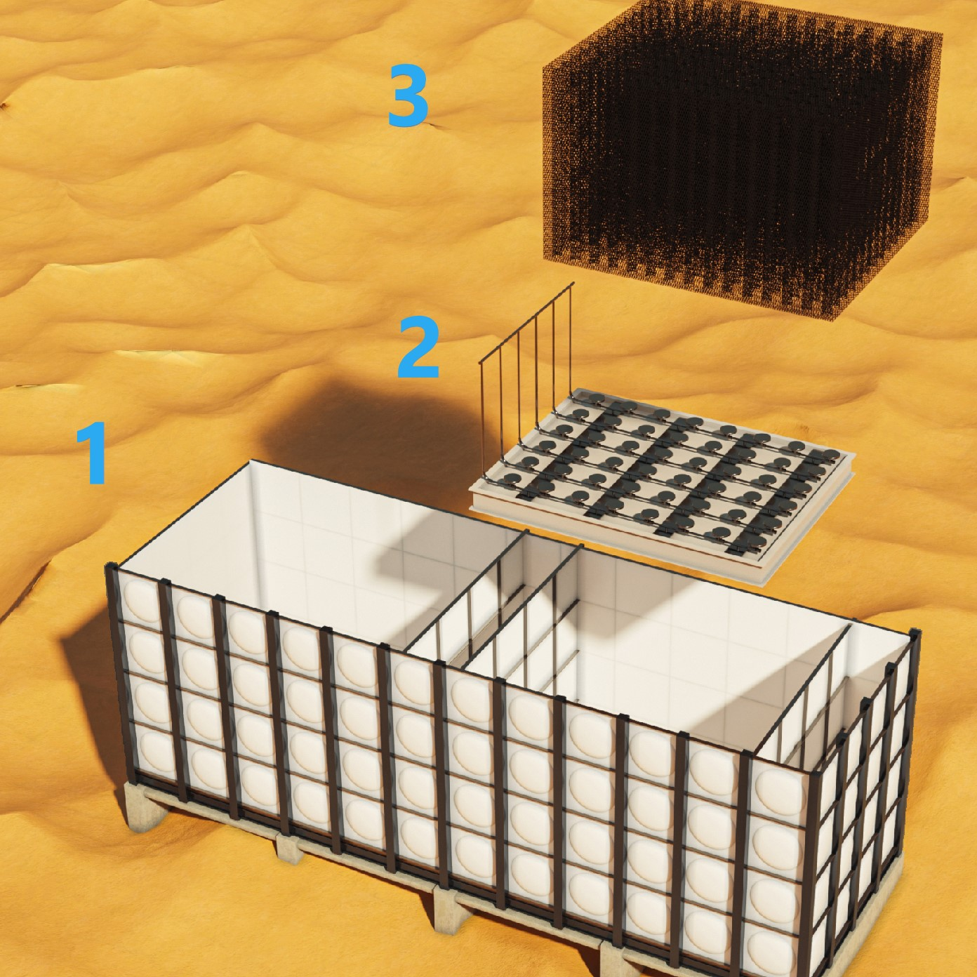 BioKube offers large wastewater systems based on activated sludge